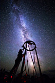 Large Amateur Reflecting Telescope and Milky Way