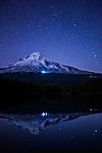 Trillium Lake and Mt. Hood at Night