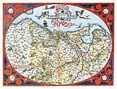 Theatrum Orbis Terrarum, Netherlands, 1570