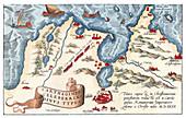 Theatrum Orbis Terrarum, Carthage Harbour, 1570