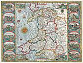 John Speed, Wales Map, 1611