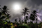 Full Moon and tropical lightning storm