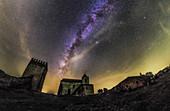 Milky Way over Noudar Castle
