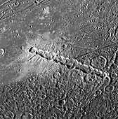 Enki Catena Craters on Ganymede