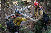Firefighters, Silver Creek Wildfire 2018