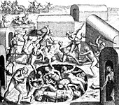 Spanish Persecution in the West Indies, Impalement, 16th C