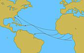 Transatlantic Slave Trade Routes, 16th-19th Centuries