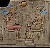 Egyptian Pharaoh Akhenaten and Nefertiti
