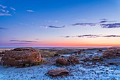 Waxing 4-Day Moon at Red Rock Coulee, Alberta, Canada