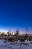 Jupiter and Mars at Dawn