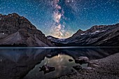 Milky Way over Bow Glacier, Banff National Park, Canada