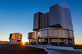 VLT telescopes at sunset