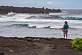 Black Sand Beach, Hawaii, USA