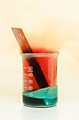 Copper reacts with nitric acid, 2 of 3