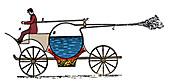 Gravesande's Steam Powered Vehicle, 1720
