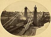 Niagara Falls Suspension Bridge, c. 1855