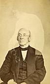 William Lloyd Garrison with Ghost, c. 1862