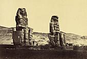 Colossi of Memnon, Egypt, 1880s