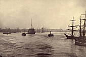 Ships on the Thames, London, c. 1870