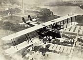 Airplane Flying Over Washington, D.C., c. 1920