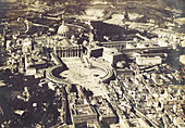 St. Peter's & the Vatican, Aerial, Rome, c. 1917