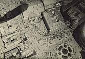 Milan with Blimp Shadow, WW1 Era