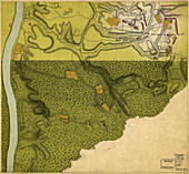 British Army Freeman's Farm Battle Plans, 1777
