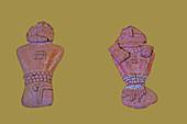 Male & Female Clay Figurines