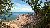 Eroded Drumlin at Chimney Bluffs State Park, NY