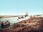 Suez Canal, Red Sea, 1905