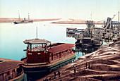 Suez Canal, Port Said, 1905