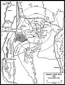 Trinity Test Site Map, Manhattan Project, 1945