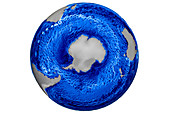Global Ocean Simulation, Currents and Eddies, 2015