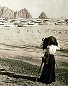 Photographing Avalon Bay, 1906