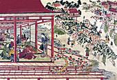 Cherry Blossom Viewing at Ueno, 18th Century