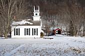 Arlington Vermont in winter