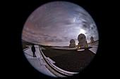 Stargazer with VLT telescopes, full-dome image
