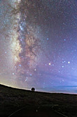 Milky Way over Gran TeCan Canarias telescope