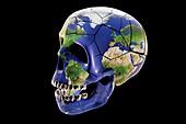 Global destruction, conceptual illustration