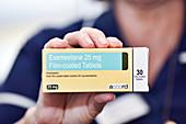 Exemestane breast cancer drug