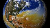 Simulation of 2005 Atlantic hurricane season