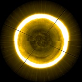 Sun's north pole, view constructed from PROBA-2 data