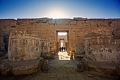 Egyptian mortuary temple at winter solstice
