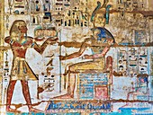 Egyptian mortuary temple carving