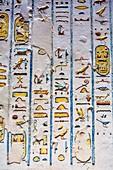Egyptian hieroglyphics from a pharaoh's tomb