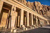 Mortuary temple of Hatshepsut at winter solstice