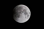 Start of total lunar eclipse, July 2018