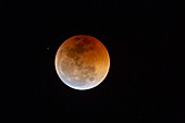 Total lunar eclipse just after totality, July 2018