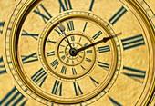 Timeless clockface abstract illustration.