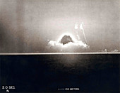 Trinity Test atom bomb 2 seconds after detonation, 1945